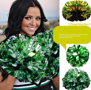 Christmas Party Pom Poms Cheerleading 120g Cheering Pompom Metallic Pom Pom Cheerleading Products Party Decoration 20 Styles DHL