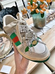 2020 últimos nuevos gucci shoes holgazanes del otoño ocasionales de las mujeres de los hombres sucios zapatos de los planos deslizan los zapatos de la Calle señoras del estilo