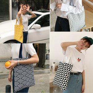 New Fashion Canvas Totes Bags For Women Brand Designer Cotton Shoulder Bag Eco Friendly Shopping Bag