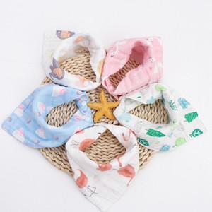 Sekiz katlı kalınlaşmış kabarcık gazlı bez üçgen havlu pamuk bebek üçgen tükürük havlu anne ve bebek malzemeleri dış ticaret toptan