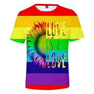LGBT Pride Month 3D T Shirt Women Men LGBTQ Love Is Love Lesbian Rainbow T-shirt Harajuku Ullzang Funny Tshirt 90s Graphic Tees