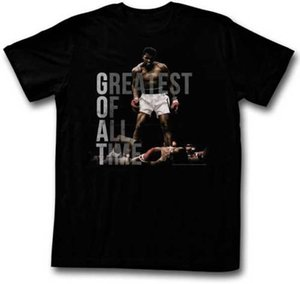 Muhammad Ali Standing Over Sonny Liston Adult T Shirt Champ
