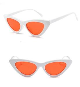 Moda küçük çerçeve kedi gözler güneş Kadınlar Marka Tasarımcısı Vintage Üçgen Güneş Gözlükleri Vintage Shades Gözlük 18 Renkler