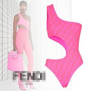 Verano mujeres de baño atractivo de una sola pieza traje de baño Sexi Bikinis FF Carta BrandSwimsuit DesignerBikini lujo DesignerSwimwear 20030307L