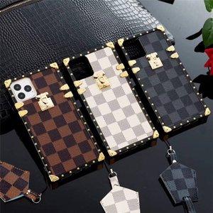 Carta de lujo del diseñador caja del teléfono de la plaza para Samsung Galaxy Plus S20 S10 S9s8 10plus Nota 9 8 10Cases Rose floral cubierta del teléfono 11 11Pro 7 8p