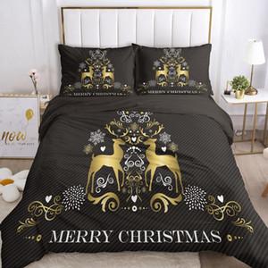 Duvet Cover Set EUR UK size Cartoon Bedding Sets for Kids Baby Children Blanket Quilt Cover Bed Linings Merry Christmas