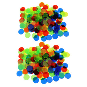 200pc translúcido bingo chips de 3/4 pulgada fichas de póker para el bingo Junta Poker tarjetas de juego de casino de accesorios Color mezclado
