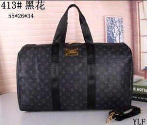 2018 new fashion men women travel bag duffle bag, brand designer luggage handbags large capacity sport bag 55X26X34CM 88658