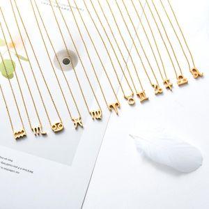 Gold Silber Edelstahl Stern Sternzeichen Neckless 12 Konstellation Anhänger Halskette Frauen Gold Kette Halskette Männer Schmuck Geschenk