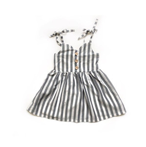 Cute Toddler Baby Girls Kids Striped Sleeveless Summer Short Mini Dress Skirt