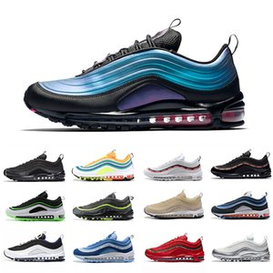 Nike air max 97  running para hombre al aire libre Sliver Bullet Laser Fuchsia LX Anthracite UNDEFEATED Triple White Balck Women Sports Sneakers 36-45