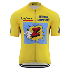 Classic team Z cycling jersey tops Men summer retro cycling clothing road bike wear clothing breathable Quick Dry mtb bike jersey