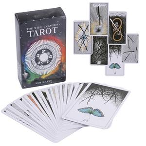 78 قطعة / المجموعة البرية مجهولة بطاقات التارو غامضة الحيوان الطوطم التارو بطاقات التوجيه عبة التارو سطح السفينة بطاقات لعبة ASS343