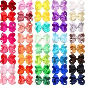 40 Colors 4.5 Inch Kid Girls Large Ribbon Hair Bows Clips Accessories for Toddlers Kids Girls hair Accessories CX200603