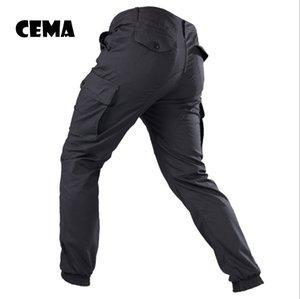 IX9 Men City Tactical Pants Pantalons cargo multi-poches Couleur verte Combat Coton Pantalon SWAT Army Pantalon simple
