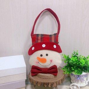 Accessori per la Gift Bag Calza della Befana Plaid bambini del Babbo Natale Decorazioni Candy Bag Christmas Tree Ornaments dropshipping