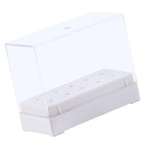 Bit Nail Drill Holder, 10 fori Storage Box Manicure Drill Bits Contenitore Holder caso di esposizione Organizer