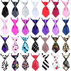 59 estilos Cão de estimação Gravata Gato Gravata Roupas filhote de cachorro vestir gravata xadrez Listrado xadrez estilo leopardo Atacado criança gravata