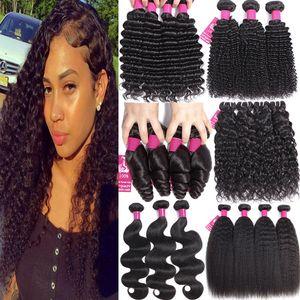 9а норки бразильские девственные волосы пучки объемная волна вьющиеся бразильские человеческие волосы пучки Свободная волна глубокая волна кудрявый прямые волосы переплетения пучки