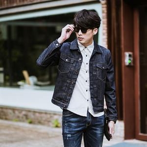 2020 fashion men's cotton denim Jackets man jean jacket coat slim fit dark blue jeans jackets