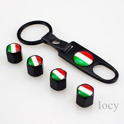 4 Pcs / Lot carro preto válvula do pneu da roda Caps Tire Stem Air Caps Keychain para o carro