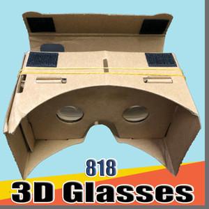 818 gafas 3D DHL Teléfono VR Lentes de bricolaje cartón Google Mobile Virtual Reality no oficial de cartón VR Kit de herramientas de 3D Glasses CCA1785 B-XY