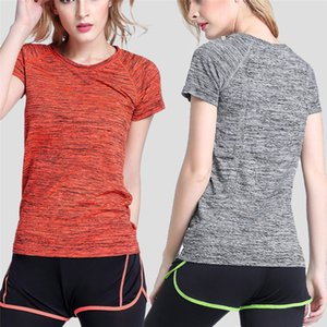 Quick-drying Sports T-shirt Thin Sports Short Sleeve Women Loose Running Clothes Yoga Fitness Clothes Breathable Sweat Tops