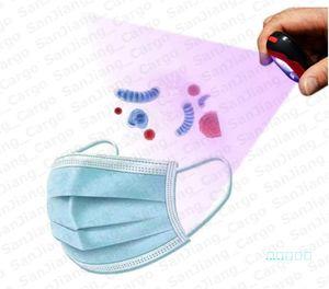 Lampe de désinfection UV bâton portable pour masque de téléphone UVC Led Sanitizer Mini Keychain UVC germicide Lampe de poche Désinfection Lumière E51003