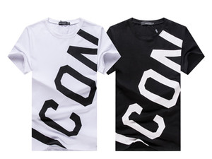 Discount store Black Friday men's T-shirt brand clothing monogrammed printed T-shirts fashion fashion grid men's L18