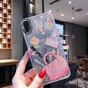 Mytoto Dynamic Liquid Cosmetic Quicksand Custodia Cover per iPhone XS Max XR 6S 7 8 Plus 6 Rossetto Bottiglia di profumo Capa Custodia per telefono ipone X
