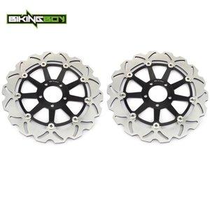 Disques de frein avant BIKINGBOY Disques Rotors pour ZX7R ZX7RR 96-03 ZX9R 1994-1997 ZX12R 2002 à 2004 ZZR 1100 93-01 2000-2003