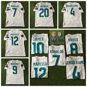 2017 2018 Real Madrid jersey de fútbol 17 camiseta de fútbol de la estrella 18 BENZEMA MODRIC KROOS retro de ISCO Maillot SERGIO RAMOS RONALDO Camisetas