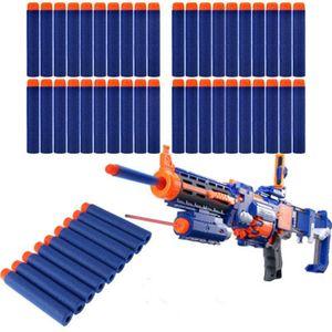 100pcs / set Nerf Bullets suave oco Buraco Cabeça de 7,2 centímetros Refill Darts Toy Gun Kid presente das crianças