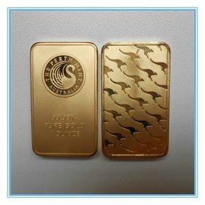 2pcs / lot Livraison gratuite 1 Oz Gold Bar - Perth Mint Minted - Or Black Swan Bar Magnétisable
