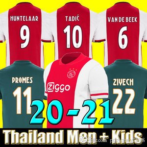 Tailândia 19 20 21 camisa de futebol ajax PROMOVE ajax amsterdam VAN DE BEEK NERES 2020 2021 TADIC ZIYECH CAMISA DE FUTEBOL HOMENS + CRIANÇAS CONJUNTA uniforme