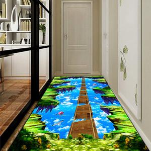 3D Baskı Kaymaz Koridor Koridor Halı Otel Giriş Koridor Kanal Mat Mutfak Paspaslar İçin The Living Room kilim özel