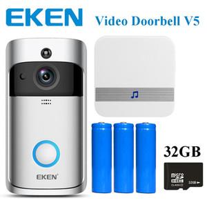 Eken vídeo inteligente campainha v5 com carrilhão em tempo real 720 p hd vídeo wi-fi câmera de duas vias de áudio night vision app controle