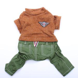 Boy Dog Maglione tuta Distintivo Hoody del cucciolo del gatto T-Shirt del rivestimento del cappotto primavera / autunno copre 2 colori