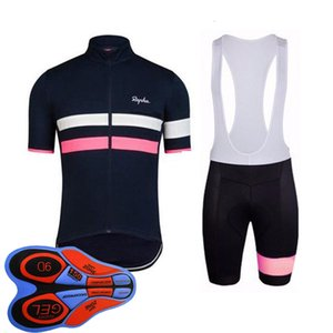 Yaz Erkek Rapha Takım Bisiklet Jersey Nefes Hızlı Kuru Yarış Bisiklet Giyim Kısa Kollu Bisiklet Maillot Culotte Suit Spor 123001