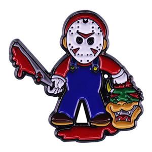 Джейсон убьет эмалевую булавку в пятницу 13-й вдохновленный подарок поклонников фильма ужасов
