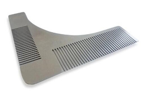 Beard Shaper comb Facial Shaping Tool Stainless Steel Comb metal Beard Shaping Modeling Template Styling Combing Tool