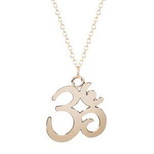Yoga Aum Om Ohm Sanskrit Yogi Spiritual Harmony Pendant Necklace