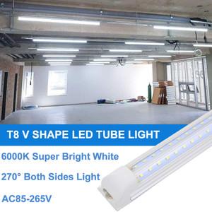 8ft led dükkan ışık fikstür, 8 ayak t8 garaj depo bodrum, atölye, yüksek çıkış için led tüp ışık armatürleri