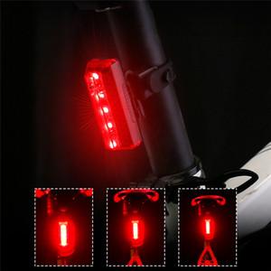 USB LED ricaricabile Mountain Bike Tail Attenzione Luce Fanale posteriore di sicurezza della bicicletta della luce posteriore di notte a cavallo Coda-lampada s