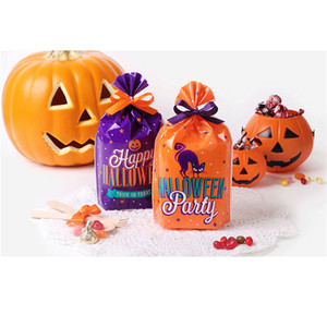 Halloween Cute Candy Bag Cookies Dessert Packaging Bag Pumpkin Bags Plastic Party Decoration Sweet Small Gifts cyq00106