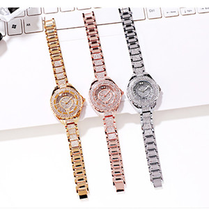 Cross-Border Selling Steel Diamond Stars Female Table Fashion Waterproof Quartz Watch a Generation of Fat Sources