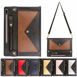 caso estilo envelope para o caso de couro Samsung Tab S6 T860 T865 Tablet manga PU para Tab S6Lite P610 P615 s5e T720 Caso Fundas