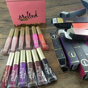 New Fondu Matte Matte Liquéfié longue Wear Rouge à lèvres Lip Gloss 7ml / 0.23fl.Oz 12 couleurs de maquillage lèvre de maquillage de la marque
