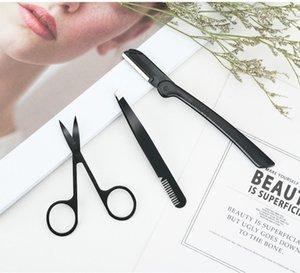 Acciaio inox sopracciglia attrezzi 3pcs / forbici set di coltelli clip del sopracciglio sopracciglia set strumenti di bellezza set 20 Set