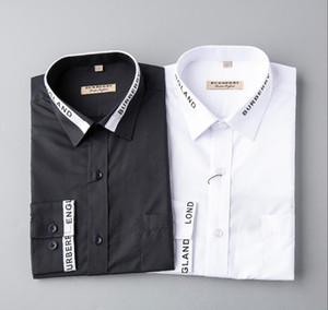 NIGRITY 19 Frühlings-Männer Art und Weise klassische bequeme beiläufige lange Hülsen-Geschäfts-Hemd Mann Formal Hemd plus Größe S-Größe 3XL 8467